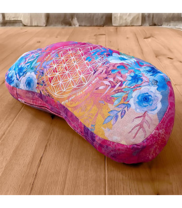 Meditation Cushion Half Moon, Pink-Varicoloured (pink)