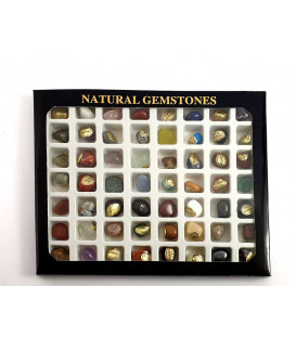 SALE 2020: Gemstonecollectionbox with 56 Natural gems...