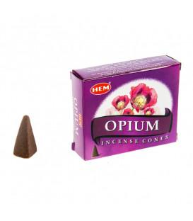 Kadzidła stożki kwiat OPIUM 10 sztuk HEM
