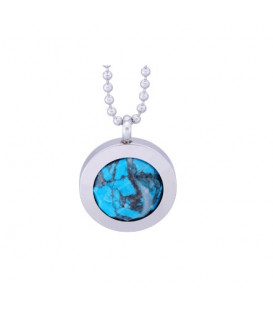 Aroma jewel in round style with real gems and to be f...