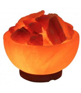 Lampa-Misa solna Rzeźbiona misa i kryształy solne