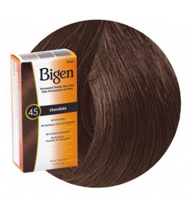 Farba do trwałego krycia siwych włosów - kolor (45) CZEKOLADA 6g HAIR DYE BIGEN