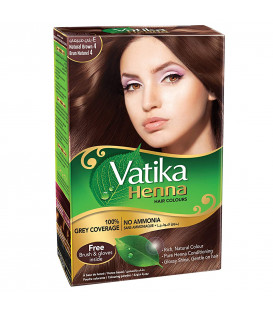 Henna do włosów Vatika Hair Color Natural Brown - Brąz 60g. Dabur