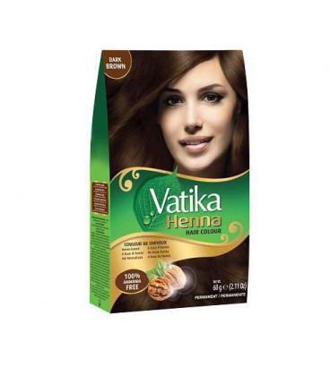 Henna do włosów Vatika Hair Color Dark Brown - Ciemny Brąz 60g. Dabur