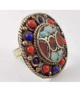 """Posrebrzany pierścionek """"Tybetańska Rozeta"""" regulowany rozmiar!"""