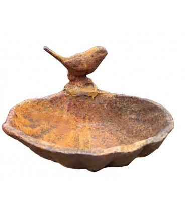 Muszla kąpielowa dla ptaków z żelaza kutego tradycyjnie w Meksyku