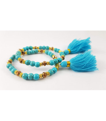 Turquoise or Angelaura Crystal bracelet with 2020 flo...