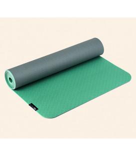 Yogimat PRO green-light gray, 183 x 61 cm x 5 mm (Green/Light grey / 183x61 cm/5 mm)