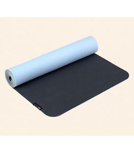 Mata do jogi Yogimat PRO Kolor: Antracyt/ Błękitny, 183cm x 61cm x 5mm Biodegradalna pianka TPE