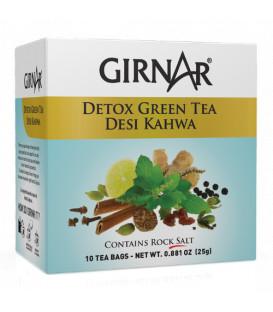 DETOX GREEN TEA Desi Kahwa 10 szt. saszetek Słona Herbata Oczyszczająca 25g GIRNAR