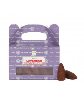 Satya Lavender backflow incense cones in pack of 24 p...