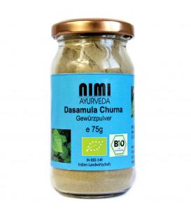BIO Dashamula Churna w proszku 75 g Nimi Ayurveda (szklany pojemnik)
