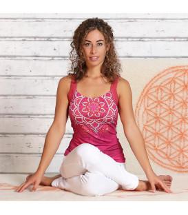 "Yoga Top Bamboo ""Chakra"", Paradise Pink (Roseate / XS)"