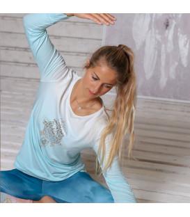 """Bluzka z długim rękawem Yoga """"Shakti"""", kolor: Blue-Breeze (rozm. XS)"""