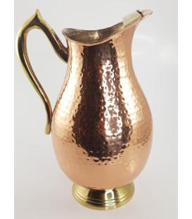 Miedziany dzbanek/wazon MUGLAI z mosiężnym uchwytem 1.5L Ayur Water [SE 255]