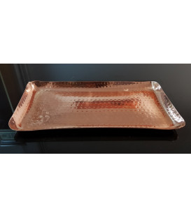 COPPER PLATTER RECTANGULAR 25 X 12.5 CM [SE 147]