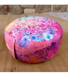 Poduszka do medytacji okrągła w różu, szer. 38cm, The Spirit of OM