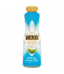 Tiana Pure Raw Coconut Water 350ml Woda kokosowa z zielonych kokosów w szklanej butelce