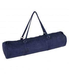 Torba na matę do jogi Citybag Velour kolor: Dark Blue, 69 x Ø 17 cm