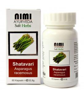 Ekstrakt Shatavari, 60 kapsułek (32,8 g) Nimi Ayurveda