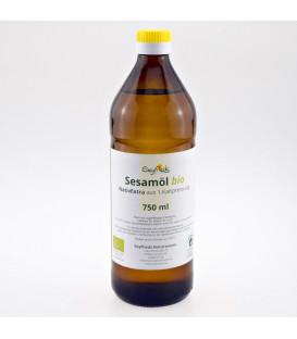 Organiczny Olej Sezamowy BIO Extra Virgin 750 ml Seyfried - szklana butelka, nierafinowany olej do spożycia i masażu