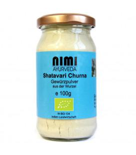 BIO Shatavari Churna, proszek z korzenia 100g Nimi Ayurveda