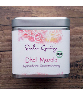 BIO Przyprawa do roślin strączkowych Dhal Masala Spice Blend, 50 g w pudełku, Ayurveggie
