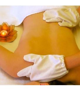 Rękawiczki do masażu Garshan z Jedwabiu Endi z Assam (Indie) 1 para
