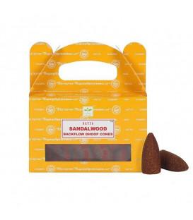 Kadzidła Sandalwood backflow 24 stożki 75 g Satya