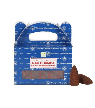 Kadzidła Nag Champa backflow 24 stożki 75 g Satya