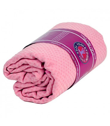 Yoga towel PVC slip resistant pink -- 500 g  183x65 cm