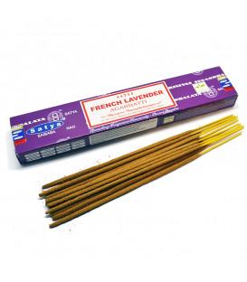 Kadzidła Lawendowe French Lavender 15g Satya - Kojące, wysublimowane, ziołowe