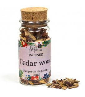 Czerwone Drzewo Cedrowe (Red Cedarwood) kadzidło drzewne (szklana buteleczka z korkiem) 7 g 30 ml Flora Perpetua