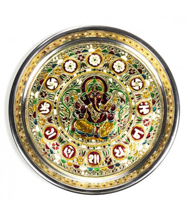 Talerz ozdobny Ganesha - 300 g szerokość 28 cm