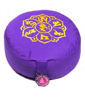 Poduszka do medytacji OM, Kolor Fioletowy, 33x17 cm, Yogi & Yogini