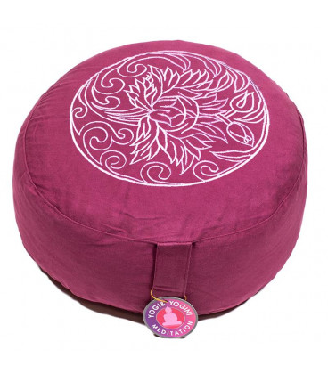 Meditation cushion Lotus light aubergine -- 33x17 cm