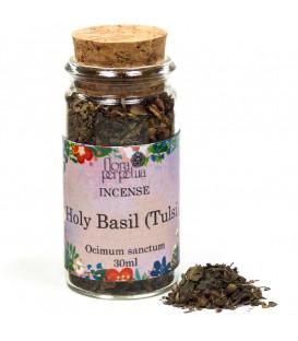 Święta bazylia Tulsi, kadzidło ziołowe (szklana buteleczka z korkiem) 5g 30 ml Flora Perpetua