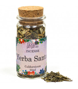Kadzidło ziołowe Yerba Santa - (szklana buteleczka z korkiem) 6 g 30 ml Flora Perpetua
