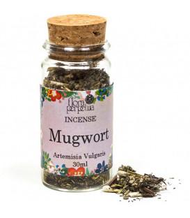 Mugwort Kadzidło ziołowe - (szklana buteleczka z korkiem) 6 g 30 ml Flora Perpetua