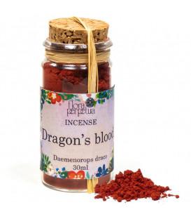 Smocza Krew Dragonblood, kadzidło żywiczne (szklana buteleczka z korkiem) 12 g 30 ml Flora Perpetua