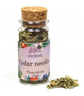 Igły cedrowe - kadzidło drzewne (szklana buteleczka z korkiem) 8 g 30 ml Flora Perpetua