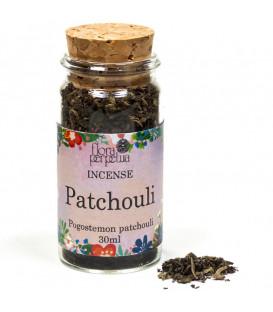 Patchouli liście - Kadzidło roślinne (szklana buteleczka z korkiem) 6g 30 ml Flora Perpetua