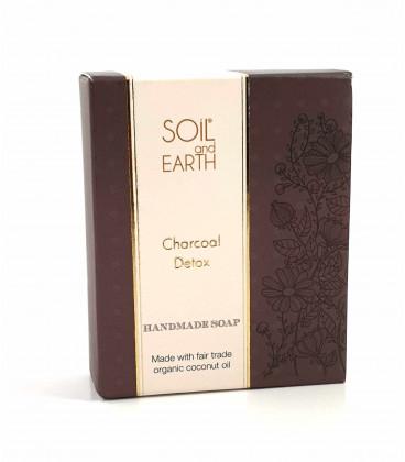 SOIL AND EARTH HANDMADE SOAP - CHARCOAL DETOX 100g