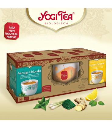 "Zestaw upominkowy Yogi Tea ""Feel Good Moments"" 2 opakowania Yogi Tea + ceramiczny kubek do herbaty"
