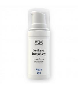 Nawilżający krem pod oczy z rabarbarem i skwalanem Aqua Eye 15ml Avebio