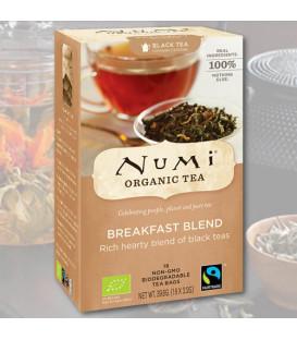 Organiczna mieszanka Czarnych Herbat Breakfast Blend, 18 torebek, Numi Tea