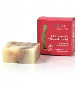 BIO Mydło Organiczne Ajurwedyjskie z olejkiem z dzikiej róży i olejkiem migdałowym 100 g Auromére