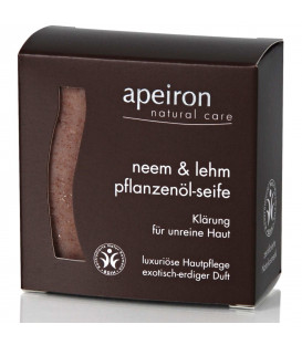 Neem & Clay Natural Herbal Oil Soap Auromére, 100 g