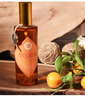 Luksusowy spray zapachowy z olejkiem eterycznym Pomarańcza 100 ml. Organic Goodness Song of India