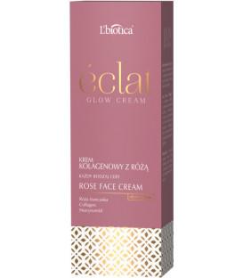 Krem Kolagenowy z Różą Francuską i Niacynamidem Eclat Glow Cream 50ml L'biotica